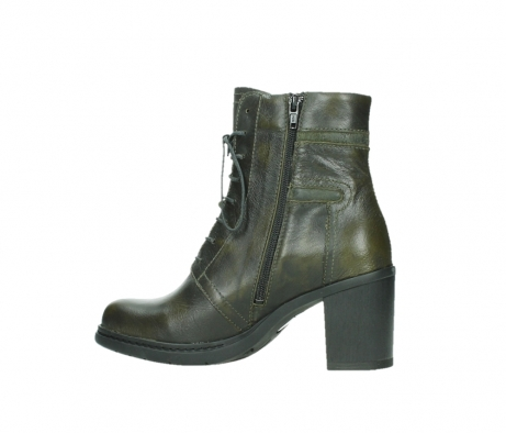 wolky ankle boots 08064 shalkar 27775 military green effect leather_14
