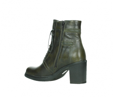 wolky ankle boots 08064 shalkar 27775 military green effect leather_15