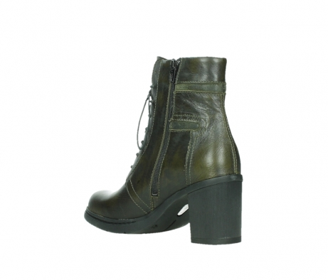 wolky ankle boots 08064 shalkar 27775 military green effect leather_16