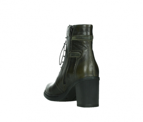 wolky ankle boots 08064 shalkar 27775 military green effect leather_17