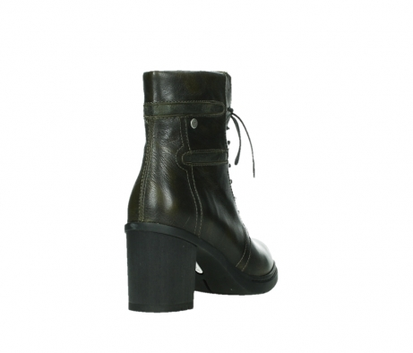 wolky ankle boots 08064 shalkar 27775 military green effect leather_21