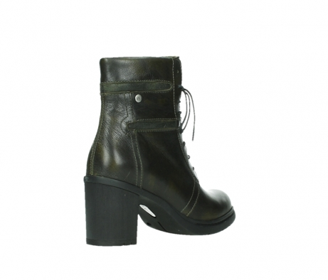 wolky ankle boots 08064 shalkar 27775 military green effect leather_22