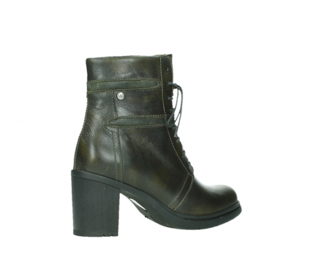 wolky ankle boots 08064 shalkar 27775 military green effect leather_23