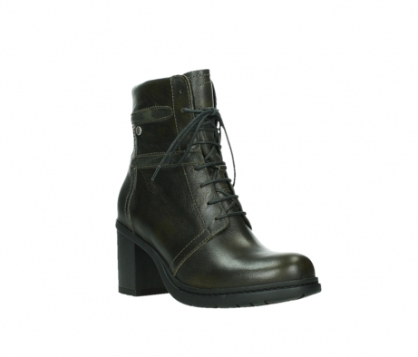 wolky ankle boots 08064 shalkar 27775 military green effect leather_4