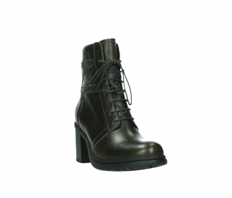 wolky ankle boots 08064 shalkar 27775 military green effect leather_5