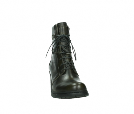 wolky ankle boots 08064 shalkar 27775 military green effect leather_6