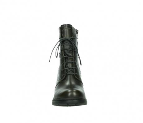 wolky ankle boots 08064 shalkar 27775 military green effect leather_7
