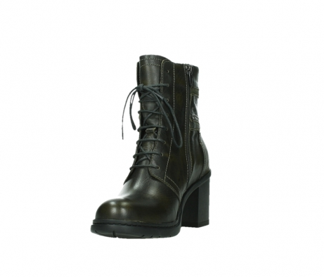 wolky ankle boots 08064 shalkar 27775 military green effect leather_9