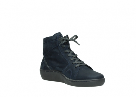 wolky lace up boots 08130 zeus 50800 blue oiled leather_16