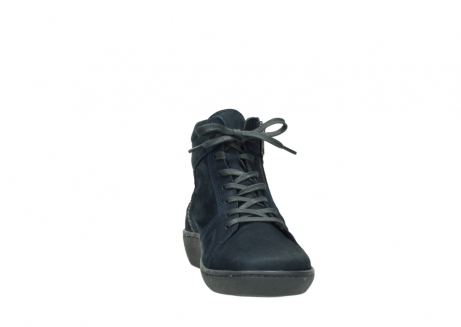 wolky lace up boots 08130 zeus 50800 blue oiled leather_18