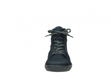 wolky lace up boots 08130 zeus 50800 blue oiled leather_19