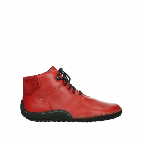wolky lace up boots 08361 mokola 50500 red leather