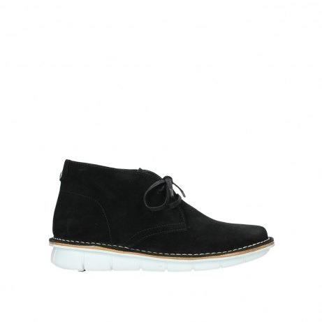 wolky lace up boots 08397 wilna 40070 black olied suede
