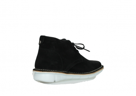 wolky lace up boots 08397 wilna 40070 black olied suede_10