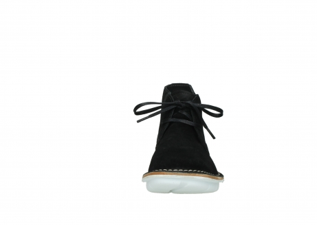 wolky lace up boots 08397 wilna 40070 black olied suede_19