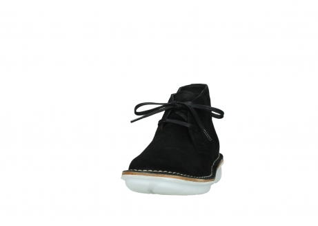 wolky lace up boots 08397 wilna 40070 black olied suede_20