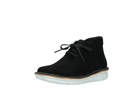 wolky lace up boots 08397 wilna 40070 black olied suede_22