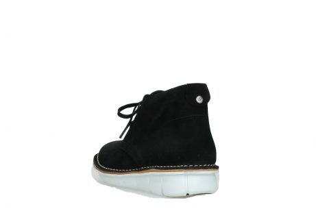wolky lace up boots 08397 wilna 40070 black olied suede_5