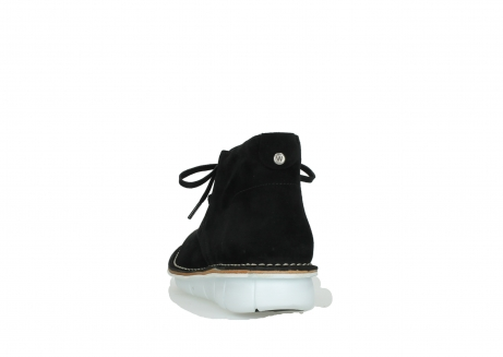 wolky lace up boots 08397 wilna 40070 black olied suede_6