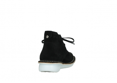 wolky lace up boots 08397 wilna 40070 black olied suede_8