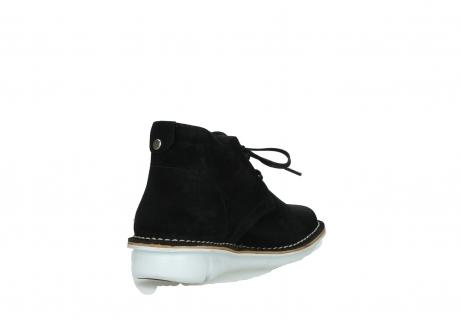 wolky lace up boots 08397 wilna 40070 black olied suede_9