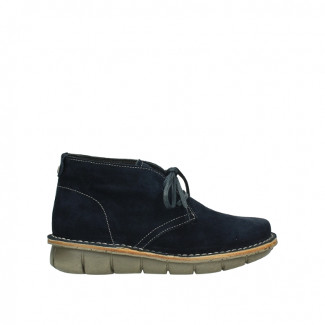 wolky lace up boots 08397 wilna 40870 blue suede