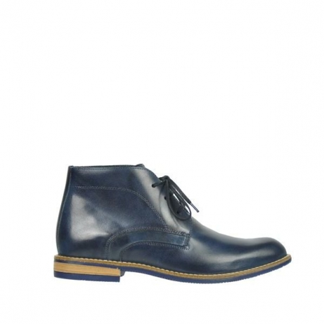 wolky lace up boots 09381 chicago 30800 blue leather
