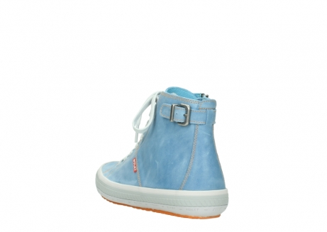 wolky lace up shoes 01225 biker 30840 jeans blue leather_5
