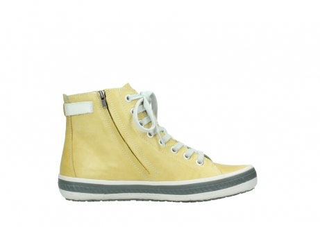 wolky lace up shoes 01225 biker 30920 light yellow leather_13