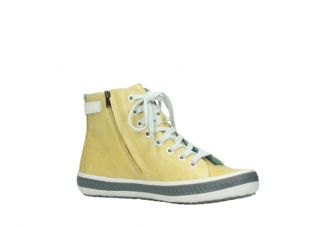 wolky lace up shoes 01225 biker 30920 light yellow leather_15