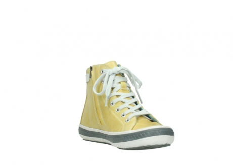 wolky lace up shoes 01225 biker 30920 light yellow leather_17