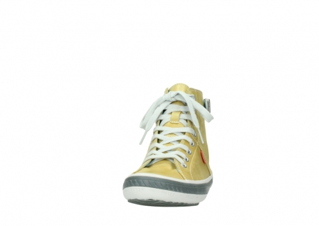 wolky lace up shoes 01225 biker 30920 light yellow leather_20