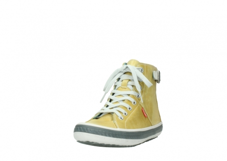 wolky lace up shoes 01225 biker 30920 light yellow leather_21