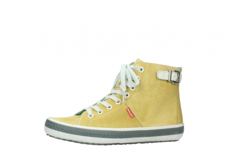 wolky lace up shoes 01225 biker 30920 light yellow leather_24