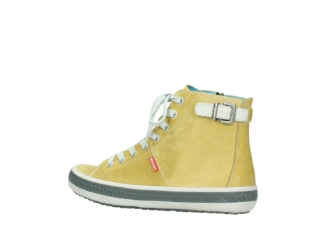 wolky lace up shoes 01225 biker 30920 light yellow leather_3