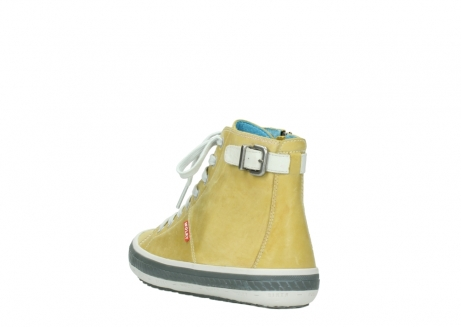 wolky lace up shoes 01225 biker 30920 light yellow leather_5