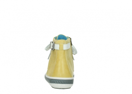 wolky lace up shoes 01225 biker 30920 light yellow leather_7