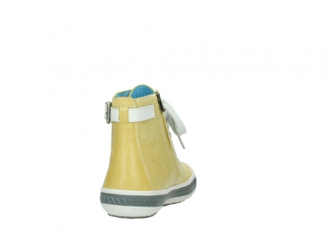 wolky lace up shoes 01225 biker 30920 light yellow leather_8