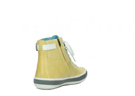 wolky lace up shoes 01225 biker 30920 light yellow leather_9