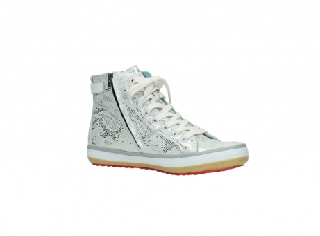 wolky lace up shoes 01225 biker 90130 silver metallic leather_15