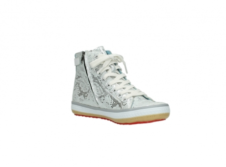wolky lace up shoes 01225 biker 90130 silver metallic leather_16