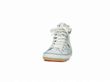 wolky lace up shoes 01225 biker 90130 silver metallic leather_20