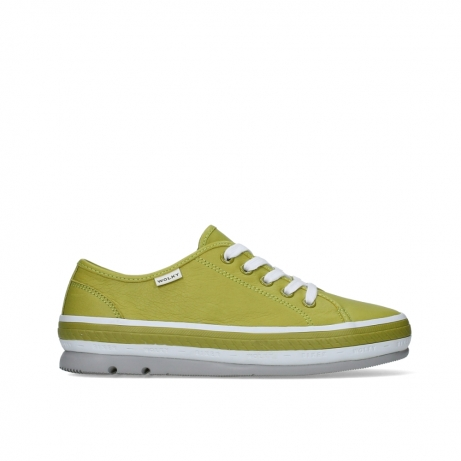 wolky lace up shoes 01230 linda 30710 olive green leather