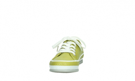 wolky lace up shoes 01230 linda 30710 olive green leather_8
