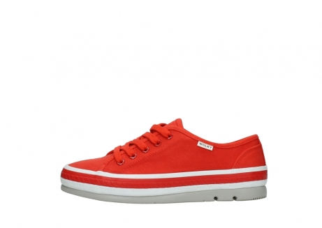 wolky lace up shoes 01230 linda 96500 red canvas_1