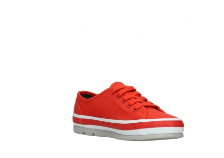 wolky lace up shoes 01230 linda 96500 red canvas_16