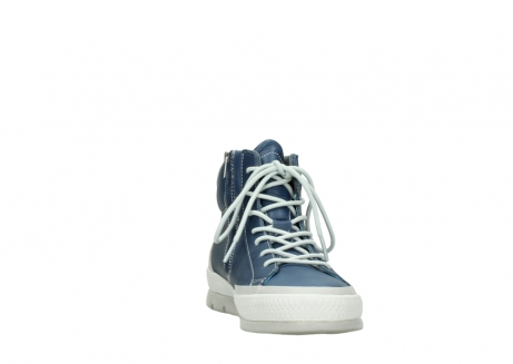 wolky lace up boots 01925 bromo 30840 jeans blue leather_18