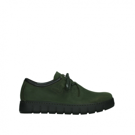 wolky lace up shoes 02325 vic 16735 forest green nubuck
