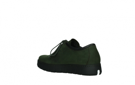 wolky lace up shoes 02325 vic 16735 forest green nubuck_16