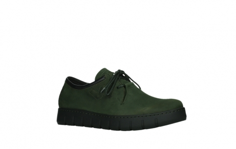 wolky lace up shoes 02325 vic 16735 forest green nubuck_3